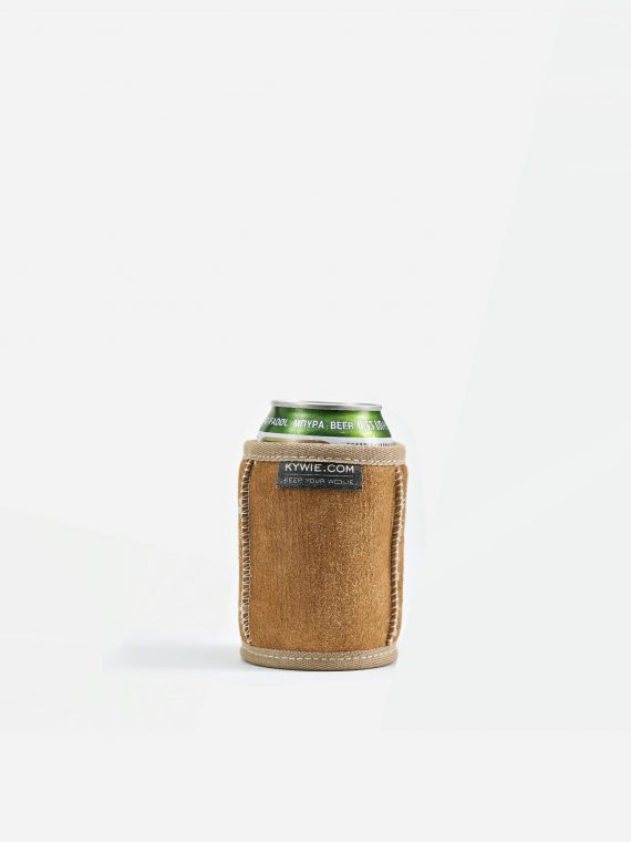 the multifunctional koozie, ideal for a cold beer and a hot tea