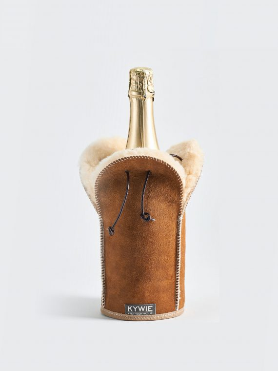 KYWIE champagne cooler with a bottle showing its cool and smart